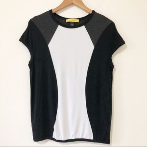 St. John Yellow Label Color Block Top